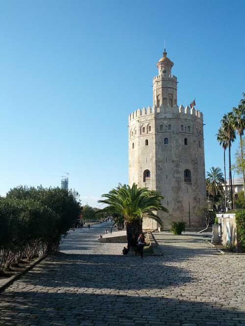 Foto torre dell'oro dal fiume - Siviglia