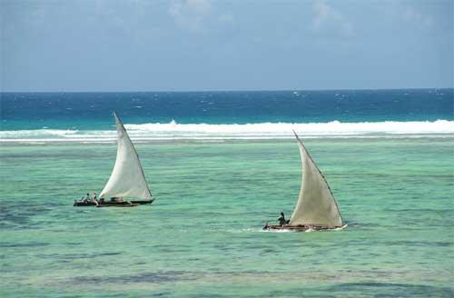 foto mare e pescatori Zanzibar